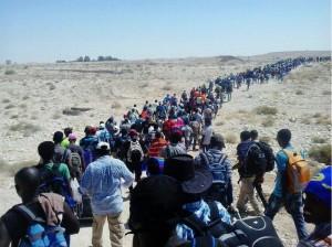 eritrean-refugees-leave-camp-isreal